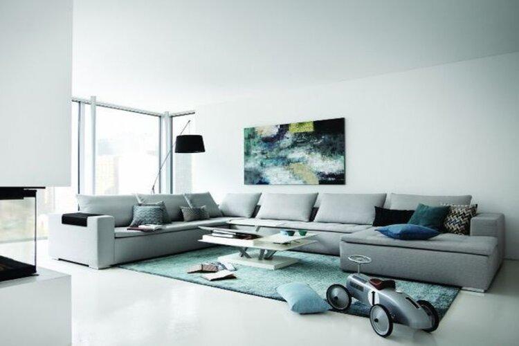 salon contemporain chaleureux